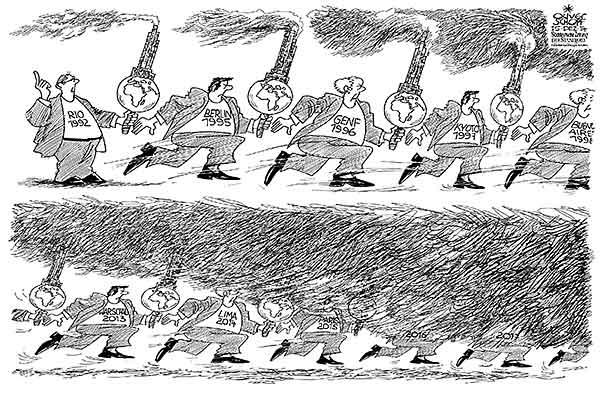 Klimakonferenz 2014 - Karikatur - Schopf